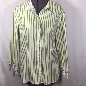 Signature by Larry Levine Top Blouse Size XL